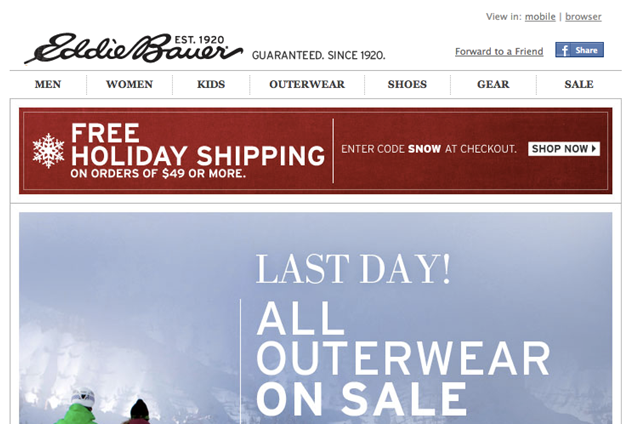 Eddie Bauer Marketing Campaign
